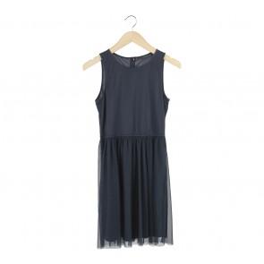 Zara Dark Blue Sleeveless Mini Dress