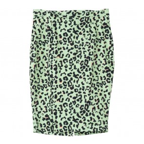 Forever 21 Light Green Leopard Bandage Skirt