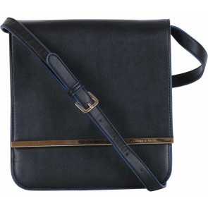 Charles and Keith Black Flap Sling Bag