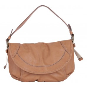 Esprit Brown Semi-Circle Leather Handbag