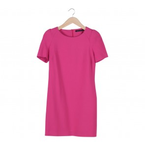 Zara Pink Shoulder Pad Mini Dress