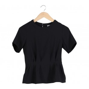 This is April Black Blouse