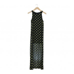 Mink Pink Black Polka Dot Long Dress