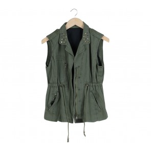 Green Sleeveless Coat