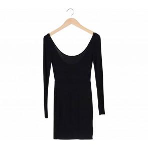 Forever 21 Black Low Back Cut Mini Dress