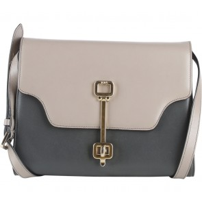 Tod´s Dark Grey And Brown Giuli Tracollina Mini Sling Bag