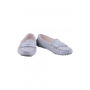Tod's Grey Leather Flats