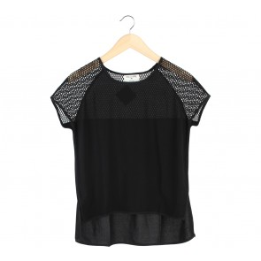 This is April Black Net Blouse