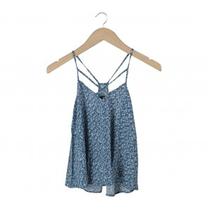 H&M Blue And White Cross Back Sleeveless