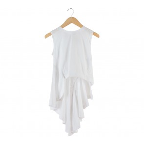 Ciel White Asymmetric Sleeveless