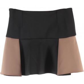 Zara Black And Brown Mini Skirt
