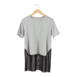 Zara Black And Grey Blouse