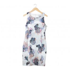 H&M Multi Colour Floral Midi Dress