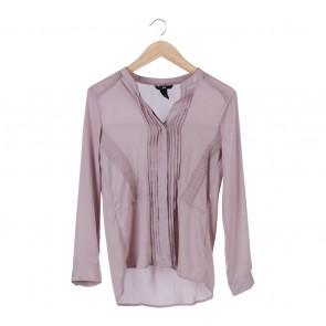 H&M Pink Ruffle Blouse