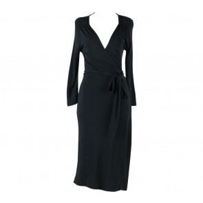 Zara Black Wrap Midi Dress