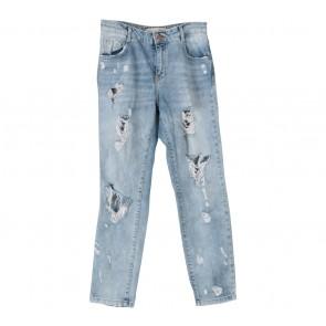 Zara Blue Denim Ripped Pants