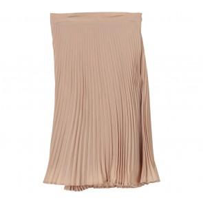 Cotton Ink Cream Pleated Skirt