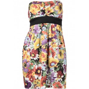 Mango Multi Colour Floral Mini Dress