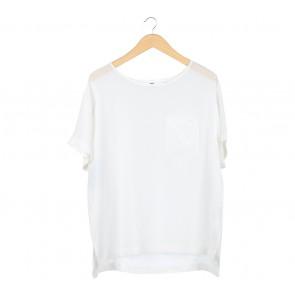 UNIQLO Off White Silk Blouse