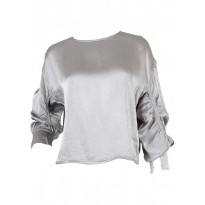 Zara Silver Blouse