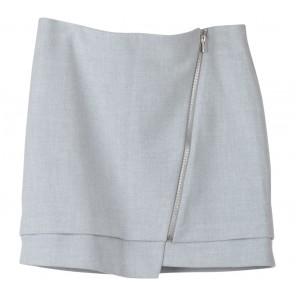H&M Grey Zippered Mini Skirt