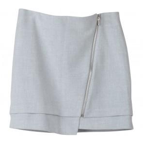 H&M Grey Zippered Mini Skirt