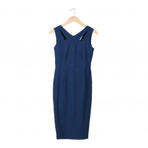 Dorothy Perkins Dark Blue Sleeveless Midi Dress