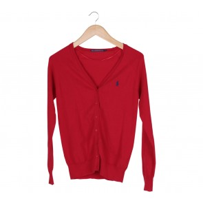 Polo Red Knit Cardigan