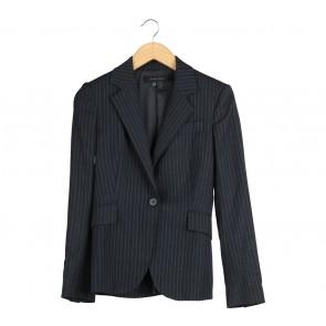 Zara Dark Grey Striped Blazer