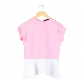 Le Bijou Pink And White Blouse