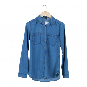 Forever 21 Blue Washed Jeans Shirt