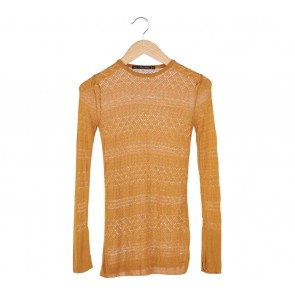 Zara Brown Knitted Blouse