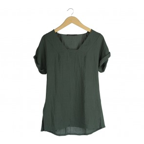 Zara Green Blouse