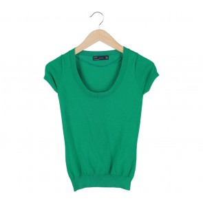 Zara Green Knitted Blouse