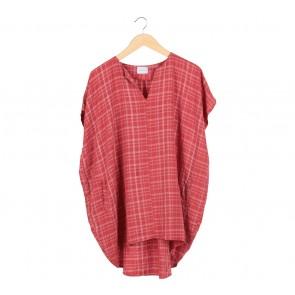 Anokhi Red Plaid Mini Dress