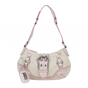 Guess Purple And Cream Shoulder Bag