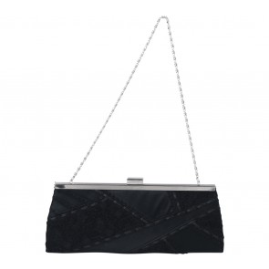 Olga Berg Black Lace Clutch