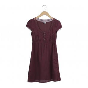 Esprit Maroon Mini Dress