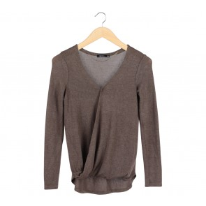Bershka Bronze Wrap Blouse