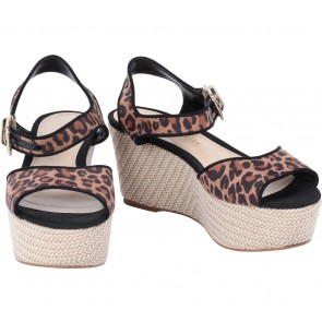 Charles and Keith Brown Leopard Wedges