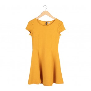 Divided Yellow Mini Dress