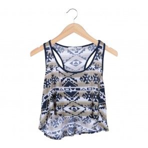 Forever 21 Multi Colour Aztec Sleeveless Sleeveless