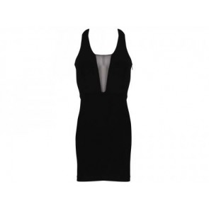 Elizabeth and James Black Midi Dress