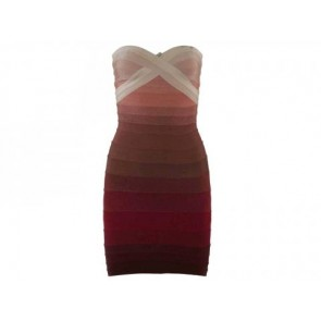 Herve Leger Pink Midi Dress