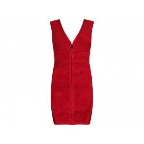 Herve Leger Red Midi Dress