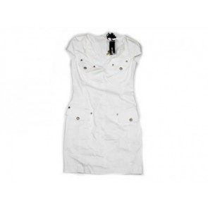 Just Cavalli White Midi Dress