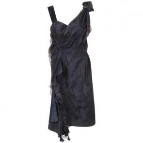 Louis Vuitton Black Midi Dress