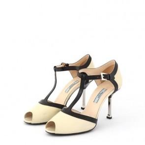 Prada Black And White Heels