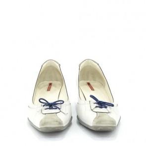 Prada White Heels