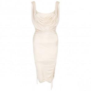 Roberto Cavalli Cream Midi Dress
